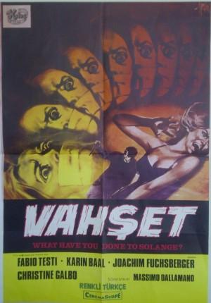 vahşet - Cosa avete fatto a Solange poster TR