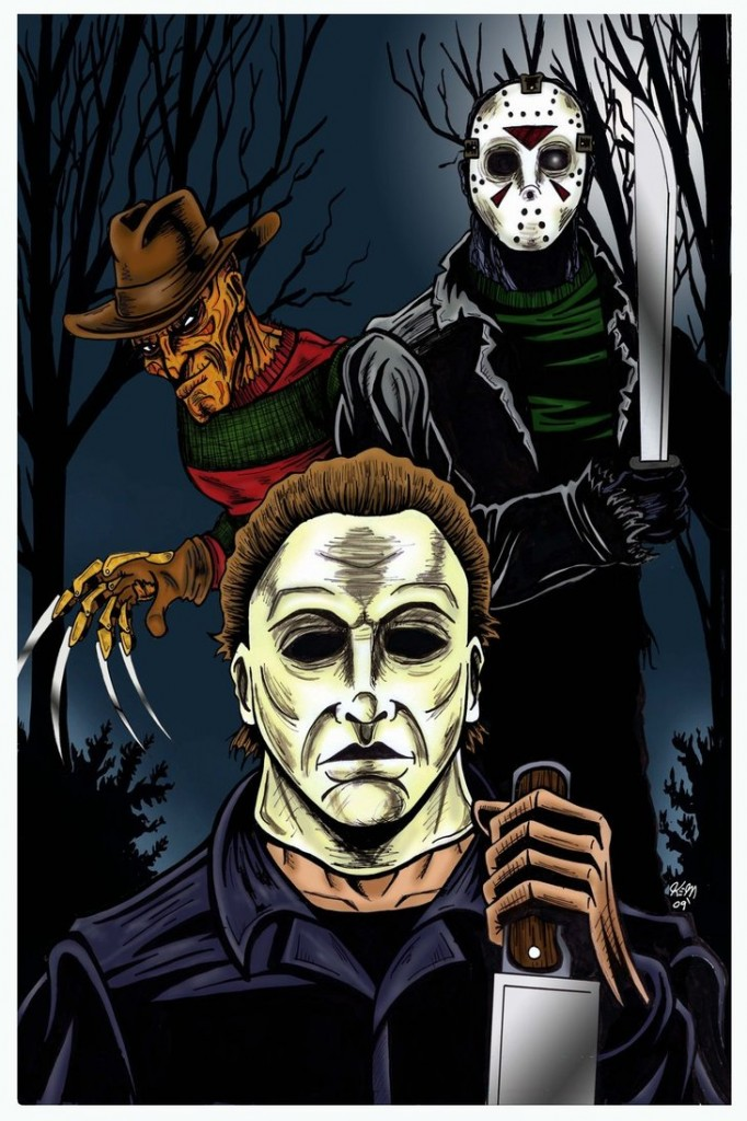 Freddy_Jason_Mike_colored_by_kevinemeinert
