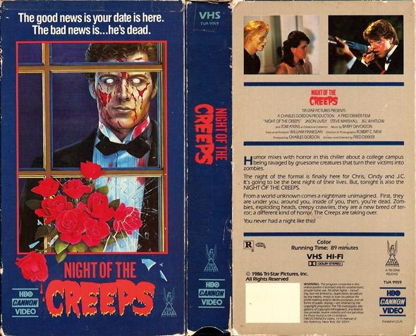 Night of the Creeps VHS kapak