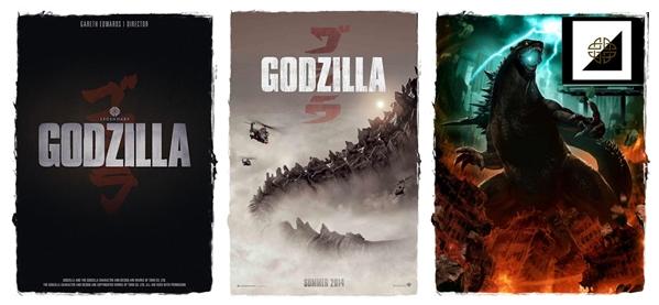 Godzilla posterler