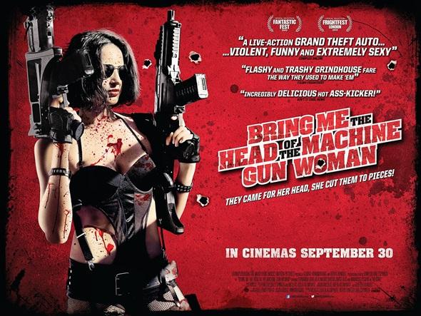 machine gun woman poster