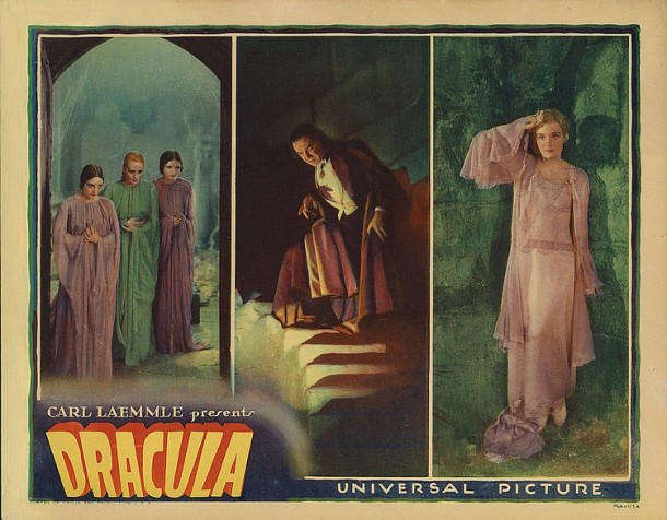 Lot 394 Bela Lugosi lobby card for Dracula