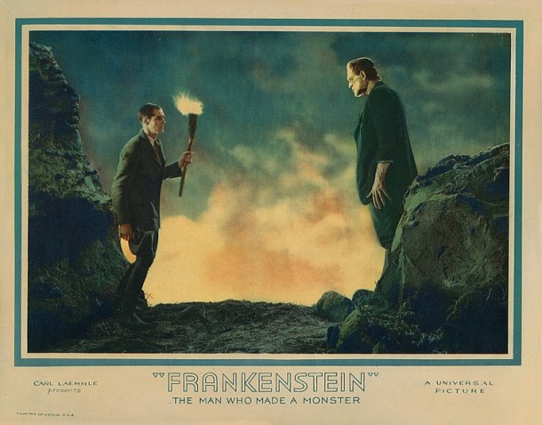 Lot 416 Boris Karloff lobby card for Frankenstein