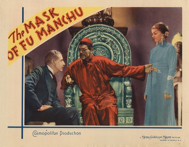 Lot 419 Boris Karloff lobby card for The Mask of Fu  Manchu