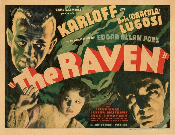 Lot 426 Boris Karloff title-lobby card for The Raven.