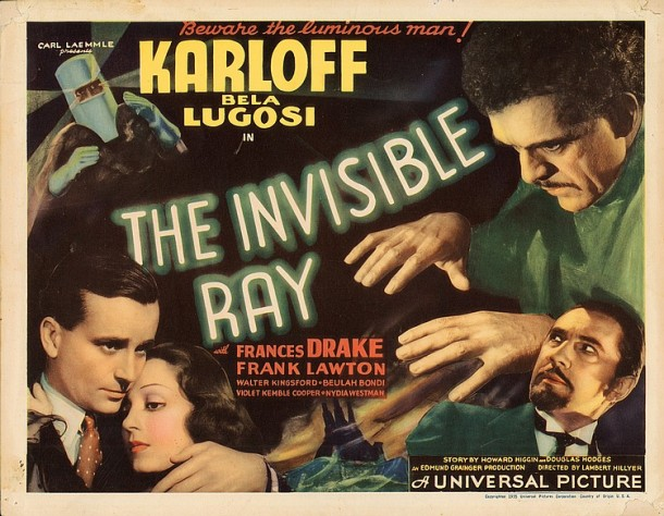 Lot 429 Boris Karloff title-lobby card for The Invisible  Ray