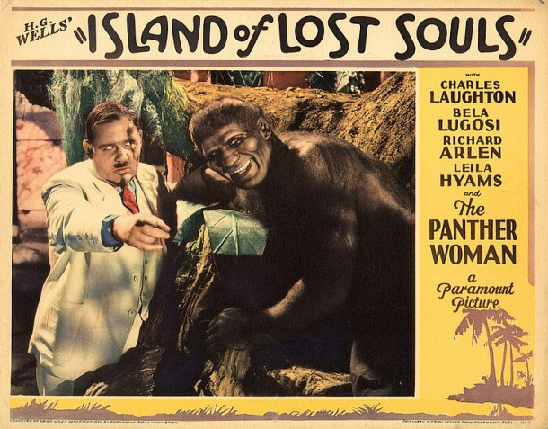 Lot 449 Charles Laughton lobby card for Island of Lost  Souls