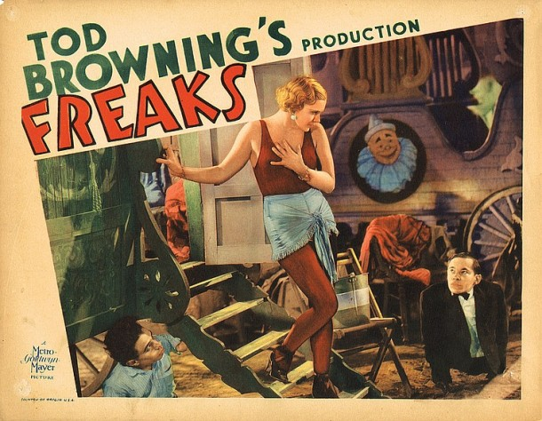 Lot 451 Director Tod Browning lobby card for Freaks.