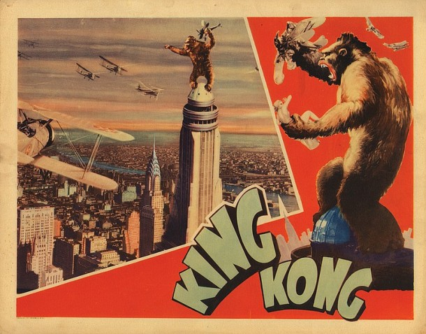 Lot 464 King Kong Empire State Building lobby card.