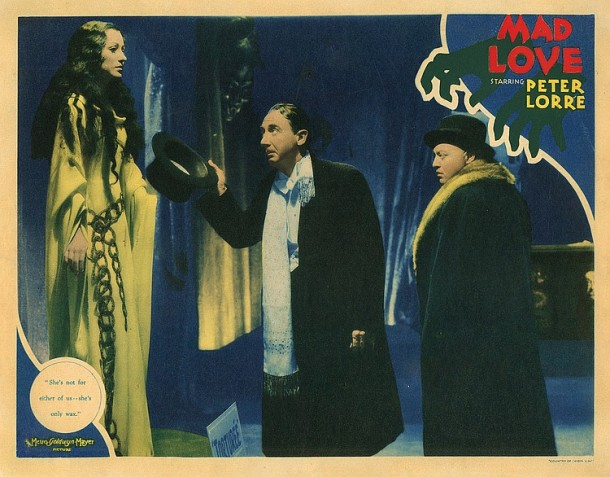Lot 475 Peter Lorre lobby card for Mad Love.(198  views)