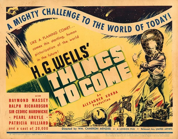 Lot 485 Complete (8) lobby card set for H.G. Wells'  Things to Come.(172 views)