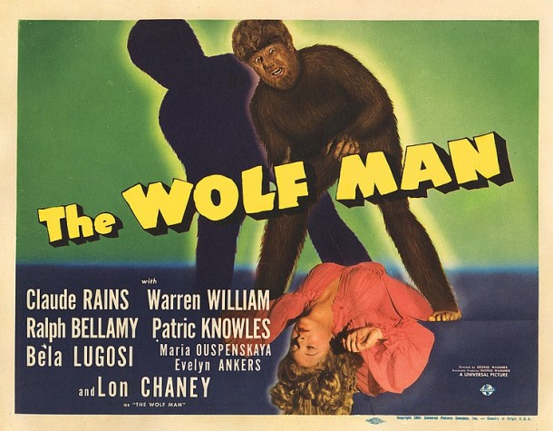 Lot 496 Title-lobby card for The Wolf Man. (114  views)