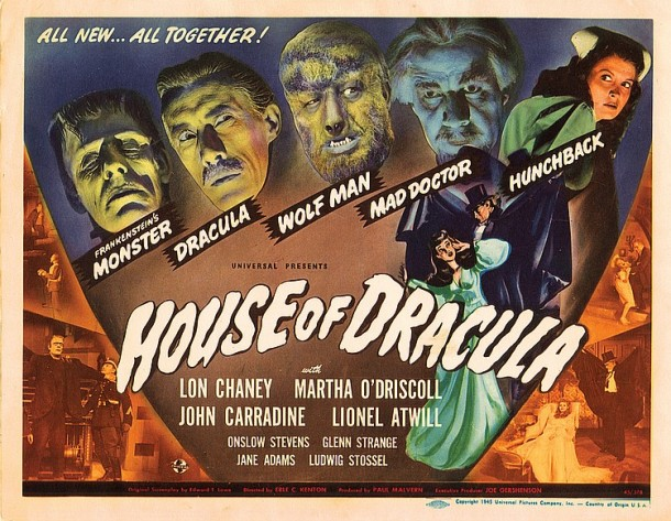 Lot 516 House of Dracula title-lobby card.(122 views)