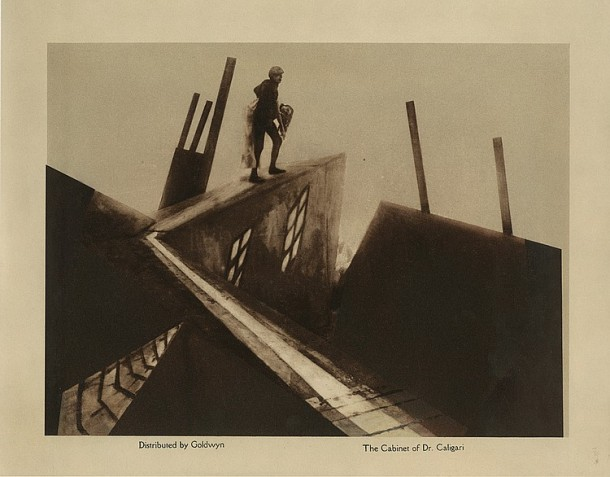 Lot 7 Lobby card for The Cabinet of Dr. Caligari