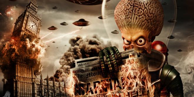 Sinemada Dünyalı Uzaylılar ve Yabancılar 1 – mars attacks artwork wip 1 it s big ben time by avecotone d62uk08