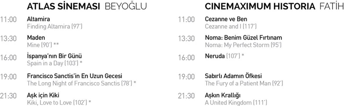 Randevu İstanbul'da Cumartesi Filmleri 1 – cats 1