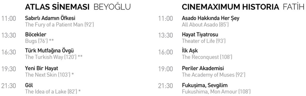 Randevu İstanbul'da Pazartesi Filmleri 1 – pazartesi