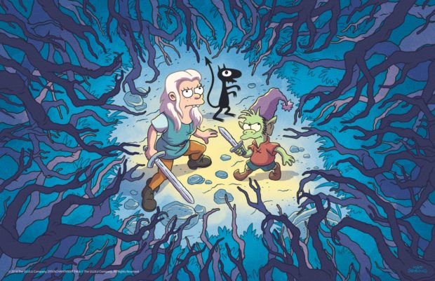 Matt Groening'in Yeni Dizisi Disenchantment Resmi Fragman 1 – batch Forest Trio FIN 400dpi