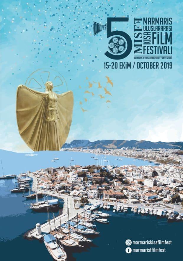 5. Marmaris Uluslararası Kısa Film Festivali'nin Afişi Hazır 1 – 5 Marmaris Kısa Film Festivali poster