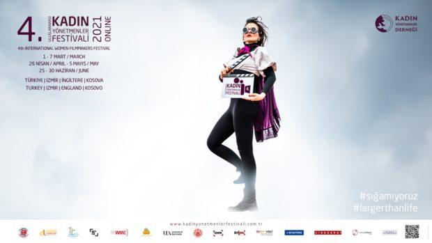 Kadın Yönetmenler Festivali Yeniden Çevrimiçi Yayında 1 – 4 Kadin Yonetmenler Festivali afis